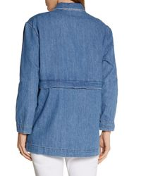 MiH Jeans - Blue Painters Chambray Jacket Mid Denim Size S - Lyst