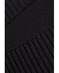 Dion Lee Black Density Ribbed-knit Skirt