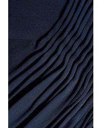 Diane von Furstenberg - Blue Tatianna Ruched Silk Crepe De Chine Halterneck Jumpsuit - Lyst