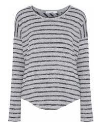Rag & Bone - Hudson Striped Jersey Top Light Gray - Lyst