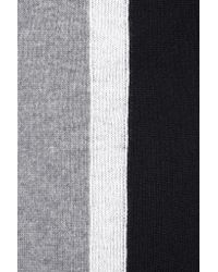 Magaschoni - Black Ruffle-trimmed Color-block Cashmere Scarf - Lyst