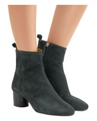Isabel Marant Multicolor Deyissa Suede Ankle Boots