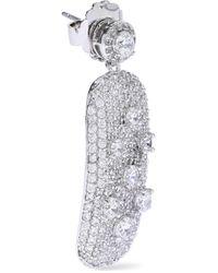 CZ by Kenneth Jay Lane - Metallic Silver-tone Crystal Earrings - Lyst