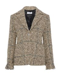 Sonia Rykiel Natural Frayed Bouclé-tweed Blazer Sand