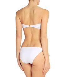 Iris & Ink - White Riley Ruched Bandeau Bikini - Lyst