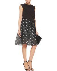Iris & Ink Black Georgette Skirt