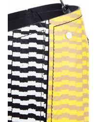 Proenza Schouler Multicolor Hex Paneled Printed Snake-effect Leather Bucket Bag