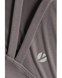 Yummie By Heather Thomson Gray Sloan Mesh-paneled Stretch-jersey Sports Bra