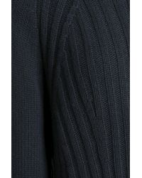 Vince - Woman Ribbed Wool And Cashmere-blend Sweater Midnight Blue - Lyst