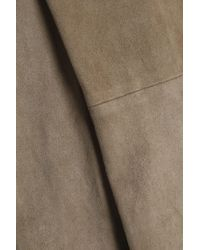 Vince Natural Cropped Suede Skinny Pants