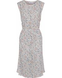 Zimmermann Multicolor Belted Printed Linen And Cotton-blend Midi Dress Off-white