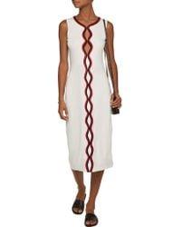 Opening Ceremony White Cutout Stretch-cotton Midi Dress