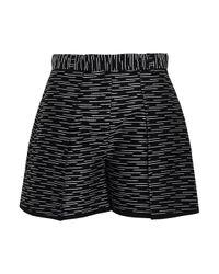 Victoria, Victoria Beckham Black Metallic Cotton-blend Jacquard Shorts