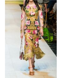 Dolce & Gabbana Embellished Raffia Platform Sandals Light Brown