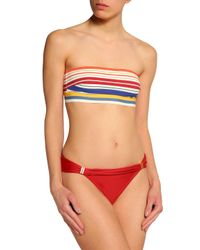 Stella McCartney White Woman Striped Bandeau Bikini Top Ivory