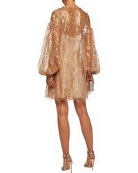 Zimmermann - Multicolor Lavish Metallic Lace Mini Dress - Lyst