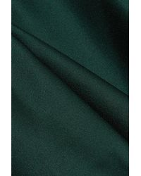 Haider Ackermann Green Long Sleeve Asymmetric Dress