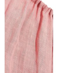 Mansur Gavriel Pink Sur Gavriel Gathered Linen Jumpsuit Blush