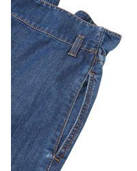 Stella McCartney Blue High-rise Wide-leg Jeans Mid Denim