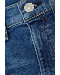 Rag & Bone Blue Woman High-rise Skinny Jeans Mid Denim