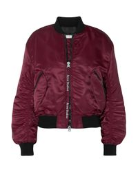 Acne Purple Clea Bomber Jacket