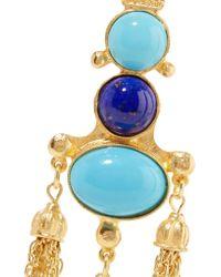 Ben-Amun - Metallic Gold-tone Stone Earrings - Lyst