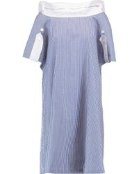Chalayan White Striped Cotton-poplin Dress