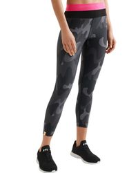 Monreal London - Gray Cropped Camouflage-print Stretch Leggings - Lyst