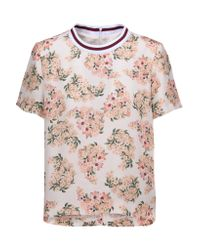 Mother Of Pearl Multicolor Paget Floral-print Silk Crepe De Chine Top
