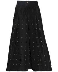 Tibi - Black Embellished Silk-faille Maxi Skirt - Lyst