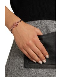 Khai Khai - Zig Zag Coated Cord, 18-karat Rose Gold And Pink Sapphire Bracelet - Lyst