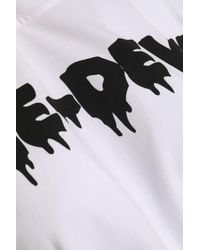 McQ Alexander McQueen White Printed Cotton-jersey T-shirt