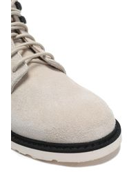 Helmut Lang - Natural Lace-up Suede Ankle Boots - Lyst