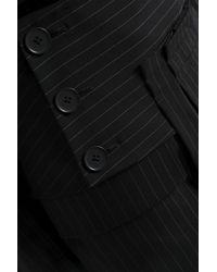 DKNY Black Pinstriped Wool-blend Mini Skirt