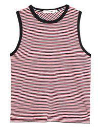 Rag & Bone Red Striped Cotton Top