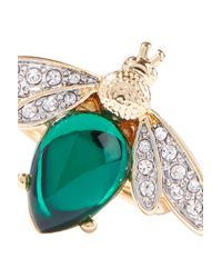 Kenneth Jay Lane Metallic Gold-tone, Stone And Crystal Ring Gold