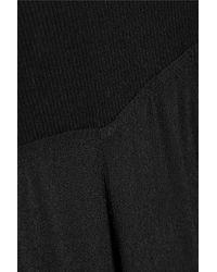 Enza Costa | Black Crepe Wide-leg Pants | Lyst
