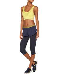Adidas By Stella McCartney Stretch-jersey Shorts Midnight Blue