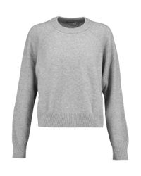 T By Alexander Wang Gray Wool And Cashmere-blend Sweater