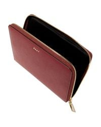 DKNY - Bryant Park Textured-leather Pouch - Lyst