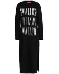 McQ Alexander McQueen Black Printed Cotton-jersey Dress