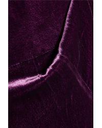 Saloni Purple Jules Velvet Jumpsuit