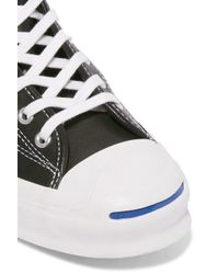 Converse Black Jack Purcell Signature Leather High-top Sneakers