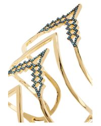 Noir Jewelry - Multicolor Glacier Peak Gold-plated Turquoise Cuff - Lyst