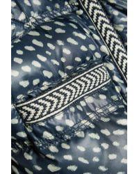 Tory Burch   Blue Rea Printed Shell Coat   Lyst