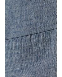 Adam Lippes - Blue Denim Midi Wrap Skirt - Lyst