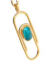 Aurelie Bidermann   Metallic Angelica Gold-plated Turquoise Necklace   Lyst