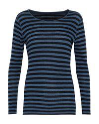 Majestic Filatures - Blue Striped Cashmere Sweater - Lyst