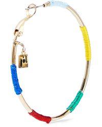 Rosantica Metallic Gold-tone Cord Hoop Earrings Gold