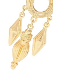 Ben-Amun Metallic 24-karat Gold-plated Stone Earrings Gold